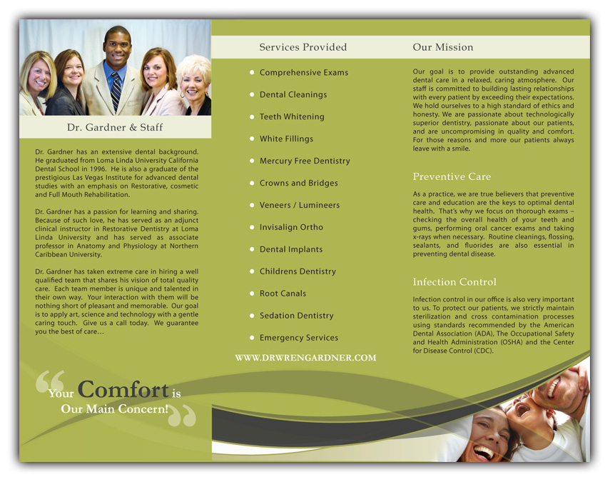 dr gardner brochure inside print USE